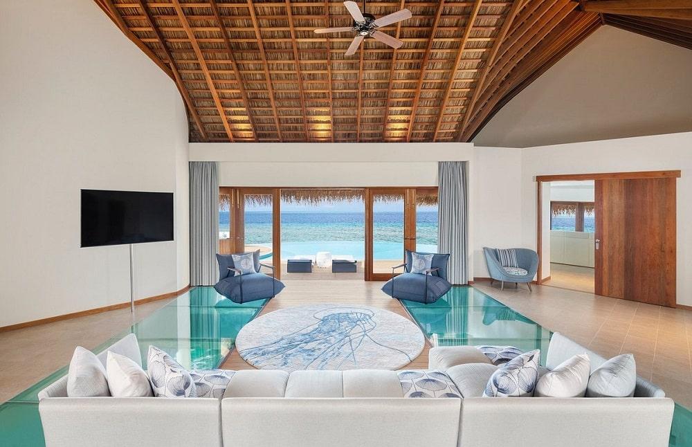 W Maldives lobby